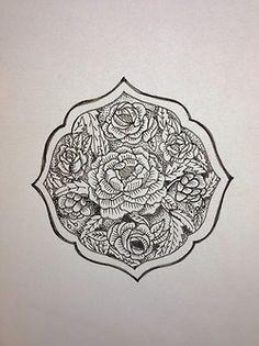 #misterb #illustration #flowers #tattoo #tattooing #folkart