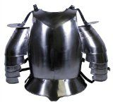 Amazon.com: RedSkyTrader - Medieval Armor Chest Plate with Spaulders - Steel Breastplate - One Size fits Most - Silver: Clothing