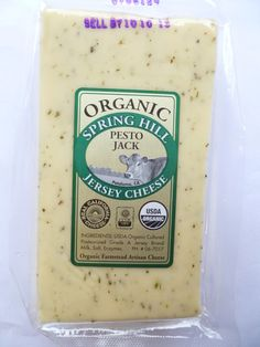 Ready to taste Pesto Jack cheese? Buy it here Artisan Cheese, Pesto, Organic, Food, Meal, Essen, Hoods, Meals, Eten
