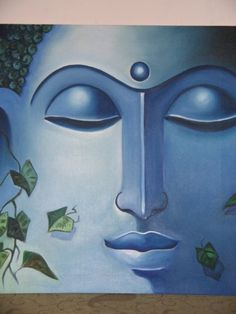 Our own Life has to be our message ~~❤~~ Thich Nhat Hann quote. ॐ Buddha 1 - Painting by Mallika Batra. Paintings I Love, Indian Paintings, Oil Paintings, Ganesha Painting, Buddha Painting, Buddha Zen, Gautama Buddha, Yoga Painting, Oil Painting On Canvas