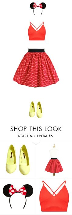 """minnie mouse"" by mimas-style ❤ liked on Polyvore featuring Senso, Boohoo, Halloween, Costume, minimouse and DYI"