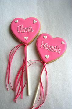 Sugar Cookie Heart Pops. #food #cookies #Valentines
