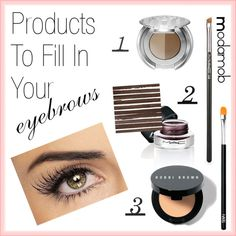 Products To Fill in Your Eyebrows by modamob, via Polyvore