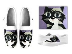 black cat slip on shoes by michiya nakao Cat Products, I Love Cats, Pool Slides, My Works, Slip On Shoes, Tote Bag, Sandals, Sneakers, Bags
