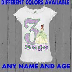 Princess Tiana Birthday Shirt - Girl Style Tee