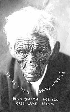 Kay-bah-nung-we-way (aka Sloughing Flesh, aka Old Wrinkle Meat, aka John Smith) - Ojibwa - 1912