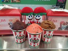 3 flavors made with #LOVE in mind. Wild Black Cherry, Chocolate Chocolate Chip, and Chocolate Covered Strawberry.  #ritas #ritasice #maplegrove #italianice #icecream #dessert #frozencustard #treat #valentines #vday #valentinesday #heart #chocolate