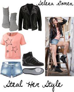 """Steal Her Style-Selena Gomez"" by brownieface on Polyvore"