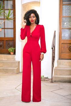 Lace Up Wide Leg Jumpsuit (Style Pantry) Fashion Pants, Fashion Dresses, Black Women Fashion, Womens Fashion, Style Pantry, Red Jumpsuit, Business Outfits, Mode Inspiration, Classy Outfits