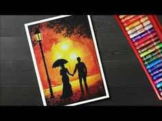 In this video, you can learn how to draw Couple walking scenery drawing for beginners with oil pastels. Things used Camlin Kokuyo Oil Pastel Shades) h. Oil Pastel Drawings Easy, Oil Pastel Paintings, Oil Pastel Art, Easy Drawings, Watercolor Paintings, Chalk Pastels, Oil Pastels, Oil Pastel Landscape, Chalk Drawings