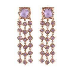 Larkspur & Hawk 14k rose gold and pink amethyst earrings