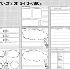 Reading Comprehension Graphic Organizers with Language Support or Detachable Bookmark contain 40 different graphic organizers in two different formats for a total of 80 different options. These graphic organizers target specific reading comprehension skills and strategies and can be used with any book or piece of text.