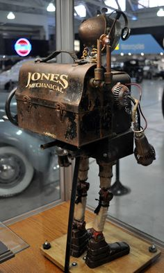 Classic Cars Authority: Dan Jone's #steampunk Tinkerbots display at the San Diego Auto Museum's Steampunk exhibit