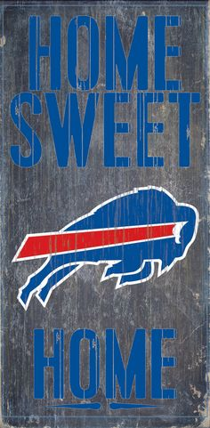 Officially Licensed Buffalo Bills Football Home Sweet Home Sign