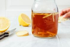Lemon Iced Tea – With it's rich, golden color and sweet, bright flavor this refreshing tea a perfect addition to your summer table. Lemon Iced Tea Recipe, Iced Tea Recipes, Chicken Noodle Soup, Golden Color, Mediterranean Diet, Alcoholic Drinks, Cooking Recipes, Bright, Bottle