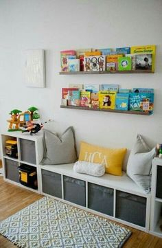 46 ideas for kids storage ideas ikea basements Kid Toy Storage, Playroom Organization, Ikea Storage, Playroom Decor, Storage Ideas, Book Storage, Organization Ideas, Book Shelves, Cube Storage