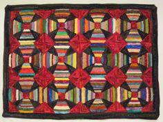 Hand hooked wool rug 27.5 x 36 di JulieMayfieldHome su Etsy