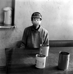 Confession of mask16    A patient who has been hospitalized in a mental hospital in Japan for years sits before Hasselblad.    by Shinya Ichikawa