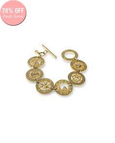 The Destiny Coin Bracelet by JewelMint.com, $188.00