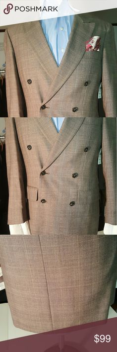 NWT Mens Double Breasted blazer 38R This NWT Classy Mens Double Breasted Blazer will be a great addition to your closet J Riggins Suits & Blazers Sport Coats & Blazers