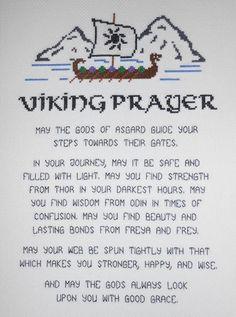 Viking Prayer Cross Stitch Pattern // Nordic Poem Digital Pattern // PDF // Vikings X-Stitch // Norse Warrior // Seafaring Benediction Viking Life, Viking Art, Viking Warrior, Viking Ship, Viking Decor, Norse Pagan, Viking Symbols, Norse Mythology, Wiccan