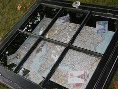 map window coffee table