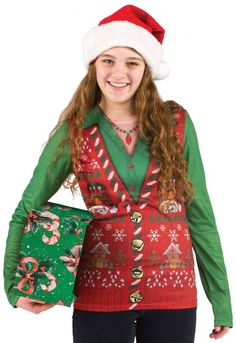 The Faux Real Ladies Ugly Christmas Sweater is the perfect way to celebrate in style!