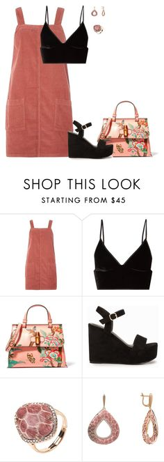 """""""Nly"""" by tina-pieterse ❤ liked on Polyvore featuring Dorothy Perkins, T By Alexander Wang, Gucci, Nly Shoes and Latelita"""