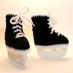 hockey baby booties - @Kristen Roman your baby girl needs these :)