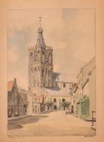 Grote Kerk van Naarden. Aquarel door B. Brobbel, 1949. Dutch Painters, Notre Dame, Building, Travel, Viajes, Buildings, Destinations, Traveling, Trips