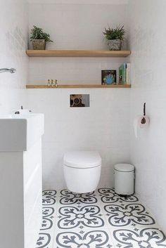 Best Ideas Bath Room Tub Remodel Built Ins White Bathroom Tiles, Wood Bathroom, Bathroom Colors, Bathroom Flooring, Bathroom Interior, Bathroom Ideas, Basement Bathroom, Basement Toilet, Bathroom Small