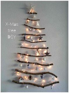 Takken touw DIY kerstboom