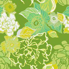 Jungle Fresh in green fabric by joanmclemore on Spoonflower - custom fabric