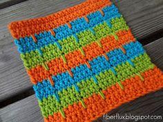Fiber Flux...Adventures in Stitching: Free Crochet Pattern...Bahama Stripe Dishcloth