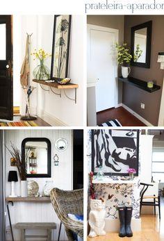 Entryway decor ideas  Hall de entrada pequeno: como decorar? - Via The Blue Post