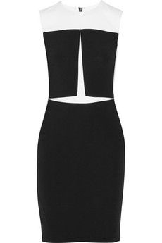 Narciso Rodriguez Paneled stretch-crepe dress | NET-A-PORTER
