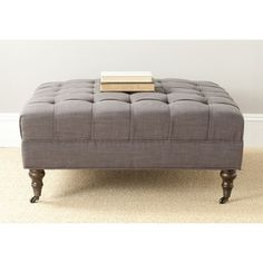 @Overstock.com - Safavieh Clark Charcoal Brown Cocktail Ottoman - Treat yourself to the club room elegance of the Clark cocktail ottoman, an indulgence in any living room, great room or den.    http://www.overstock.com/Home-Garden/Safavieh-Clark-Charcoal-Brown-Cocktail-Ottoman/8306957/product.html?CID=214117  $288.89