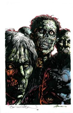 Zombies - line art: Bernie Wrightson, color: Laura Martin