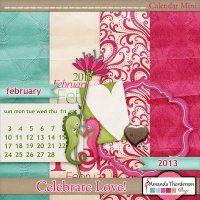 Celebrate Love! Calendar Mini 2013 by @Amanda Thorderson for the Calendar challenge @DigitalsStore