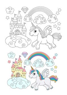 Winged unicorn rainbow coloring page with sample Emoji Coloring Pages, Birthday Coloring Pages, Mermaid Coloring Pages, Cool Coloring Pages, Mandala Coloring Pages, Free Printable Coloring Sheets, Coloring Sheets For Kids, My Little Pony Unicorn, Elephant Coloring Page