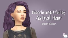 My Sims 4 Blog: Astral Hair Recolors by MissBunnyGummy