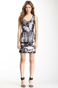New Printed Peplum Dress by Desigual on @HauteLook