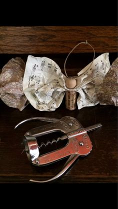 One of a kind darling recycled wine cork Angel ornaments! Whimsical wine or champagne cork body up-cycled with sweet vintage sheet music paper wings.