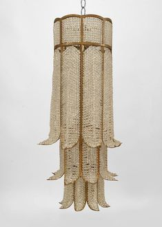 French 1940s style beaded crystal and gilt metal chandeliers with 3 tier 8 sided cylindrical design (after a design by BAGUES-modern)