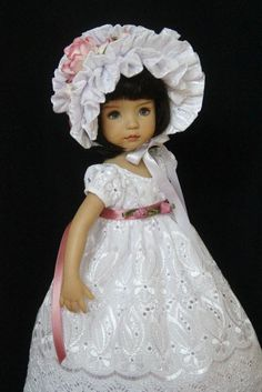 "Eyelet & Roses OOK Outfit for Effner 13"" Little Darling ~ Glorias Garden"