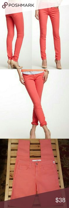 "NWT Joe's Jeans Color is Nectar... Beautiful Coral Skinny Jeans. So in Trend for summer. (these are long. Measuring @ 34"") Joe's Jeans Jeans"