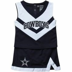 Dallas Cowboys Infant Girls Cheer Set - Navy Blue/White $39.95