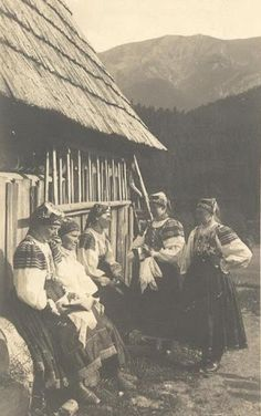 Slovakia in the and century - Most of pictures illustrate rural Slovakia and its peasants who are bearers of Slovak folk culture which is basically pagan, thus interesting for Slavdom as such. Drawing Wallpaper, Heart Of Europe, Mountain Village, Southern Europe, European History, Gods And Goddesses, Vintage Pictures, Vintage Posters, Folk Art