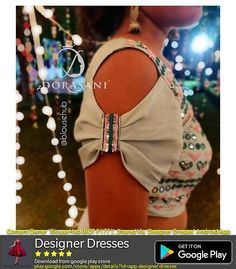 New Ideas For Clothes Reference Shorts Sari Blouse, Saree Blouse Neck Designs, Dress Neck Designs, Choli Designs, Simple Blouse Designs, Sari Design, Design Of Blouse, Sleeves Designs For Dresses, Sleeve Designs For Kurtis