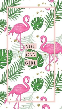 Você pode gatota!! #grlpwr Flamingo Wallpaper, Flamingo Art, Flower Wallpaper, Sassy Wallpaper, Summer Wallpaper, Screen Wallpaper, Wallpaper S, Cute Wallpaper Backgrounds, Wallpaper Iphone Cute